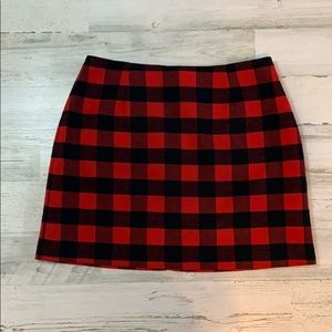 Old Navy Red Flannel Skirt